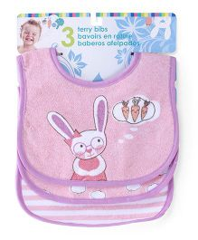 Honey Bunny Terry Bibs Pack of 3 - Blue White