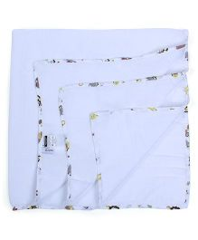 My Milestones Muslin Swaddle Blankets Pack Of 2 - Yellow