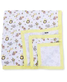 My Milestones Muslin Blanket 2 Layered - Yellow