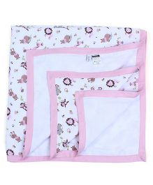 My Milestones Muslin Blanket 3 Layered - Pink