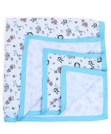 My Milestones Muslin Blanket 2 Layered - Blue