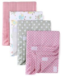Babyoye Small Changing Mat Multiprint Pack Of 4 - Multicolor