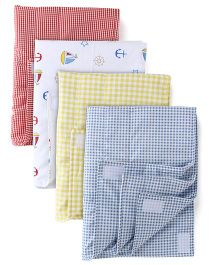 Babyoye Small Changing Mat Pack of 4 - Multicolour