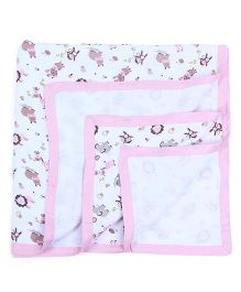 My Milestones Muslin Blanket 2 Layered - Pink