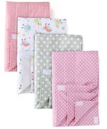 Babyoye Big Changing Mat Pack of 4 - Multicolour