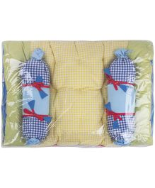 M&M Baby Bedding Set Yellow And Blue - Set Of 3