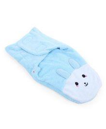 Babyoye Fleece Swaddle Wrapper - Blue White