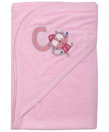Babyoye Hooded Towel - Pink