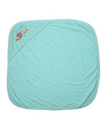 Babyoye Hooded Towel - Aqua Blue