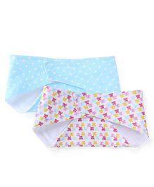 Babyoye Bandana Bibs Pack of 2 - Blue White