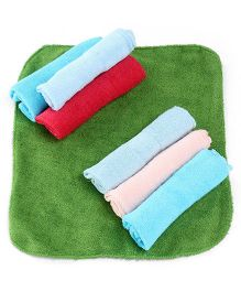 Babyoye Wash Cloths Pack of 7 - Multicolour