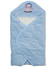 Babyoye Velore Hooded Wrapper - Blue