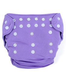 Babyoye Cloth Diaper With 2 Diaper Lining - Purple