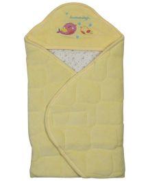 Babyoye Velore Hooded Wrapper - Yellow