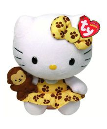 Ty Toy Hello Kitty Soft Toy Safari Print - Yellow