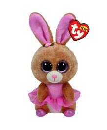 Ty Toy Twinkle Toes Ballerina Bunny Soft Toy Brown - 20 cm