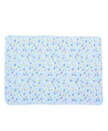 Babyoye Interlock Blanket Whale Print - Blue