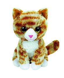 Ty Toy Booties Tabby Cat Soft Toy Brown - 13 cm