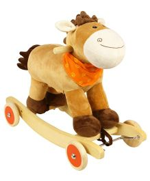 PlayNation Polo 2 in 1 Rocker Cum Ride On - Brown