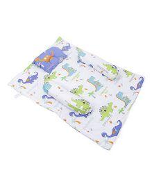Babyoye Comforter Set Dinosaur Print - Blue White