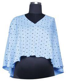 Kriti Comfort Poncho Nursing Wrap - Blue