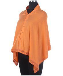 Kriti Poncho Style Nursing Wrapper - Orange