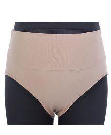 Kriti Fold Over Panty - Beige