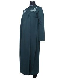 Kriti Full Sleeves Winter Nighty - Green