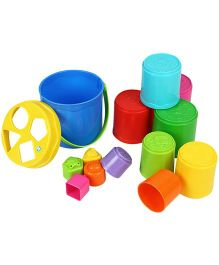 BKids Shape Sorting Stack N Nest Buckets - Multicolour