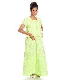 Kriti Comfort Woven Hospital Gown - Green