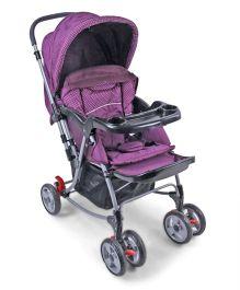 Toyhouse 2 in 1 Rocking Stroller - Purple