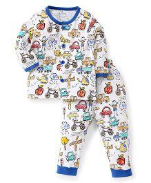 Child World Full Sleeves Night Suit - Blue