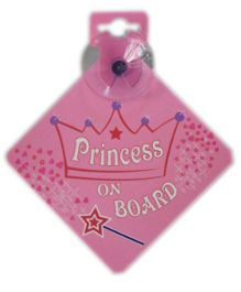 Bebecroc Princess On Board Sign - Pink