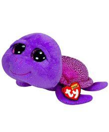 Ty Toy Slow Poke Turtle Soft Toy Purple - 16.5 cm