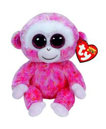 Ty Toy Monkey Soft Toy Pink - 12.5 cm