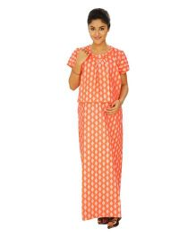 Kriti Comfort Woven Maternity Gown - Coral