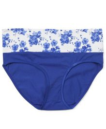 Kriti Comfort Floral Print Panty - Blue And White