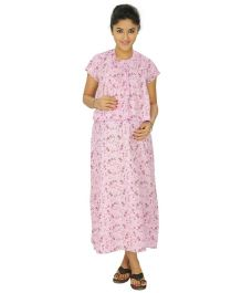 Kriti Comfort Woven Maternity Gown - Lilac