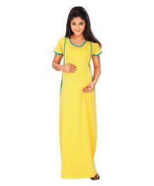 Kriti Comfort Nursing Nighty - Yellow