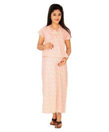 Kriti Comfort Knit Hospital Gown With Bib - Pink
