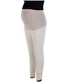 Kriti Ethnic Maternity Leggings - White