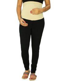 Krit Ethnic Maternity Knit Leggings  - Black