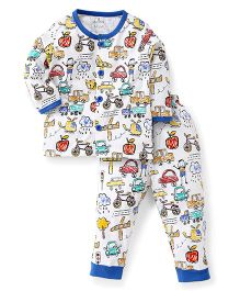 Child World Full Sleeves Night Suit - Blue