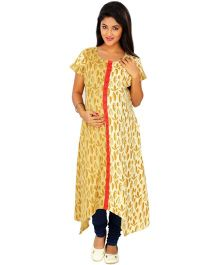 Kriti Ethnic Nursing Kurta With Handkerchief  - Off White