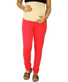 Kriti Ethnic Maternity Knit Churidar With Tummy Tucker - Coral
