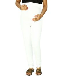 Kriti Ethnic Maternity Knit Churidar Elastic - White