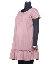 Kriti Western Maternity Tunic Top - Pink