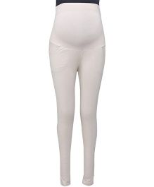 Kriti Ethnic Maternity Full Length Legging Slim Fit - White