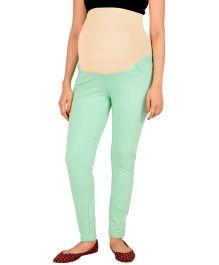 Kriti Western Maternity Solid Colour Jeggings - Light Green