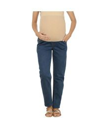 Kriti Western Maternity Jeans - Light Blue